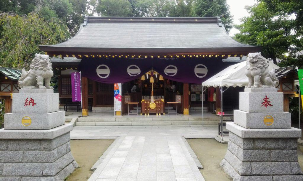 新田神社 参拝所